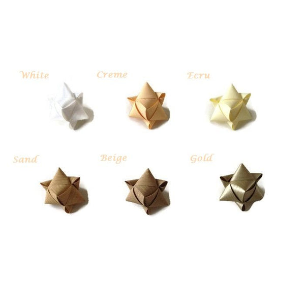 Mini cube stars for table or gift decoration 15 pcs - 6 white colors