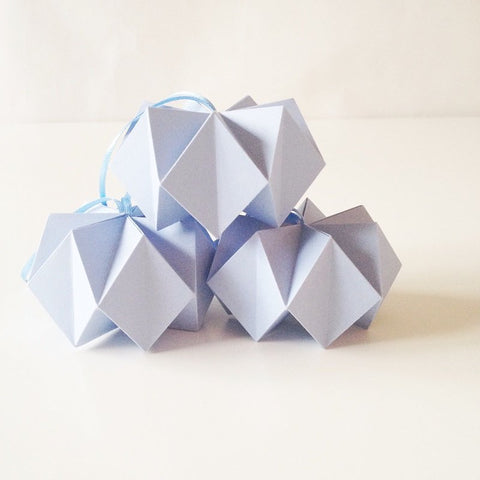 Soft Blue Crystal Balls - 3pcs
