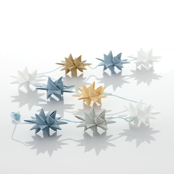 White & Gray BLue - star garland no 34