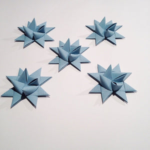 Gray Blue half star with tape M - 5 pcs