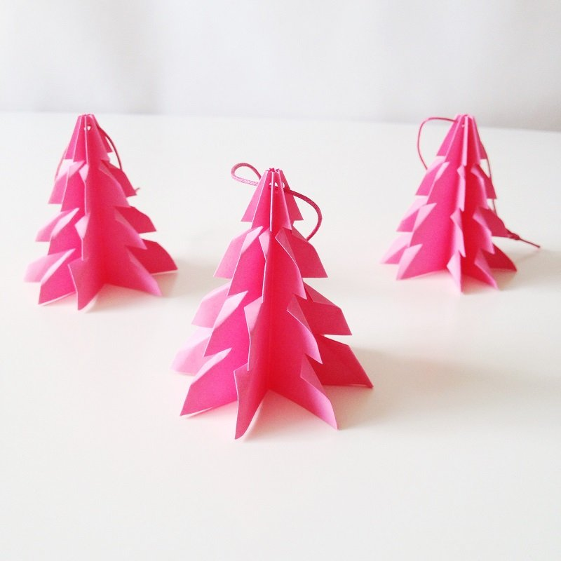 Christmas tree Cerise - 3 pcs