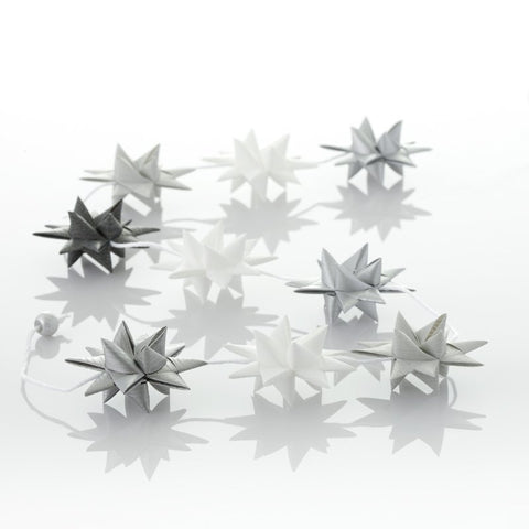 White & Gray - star garland no 13