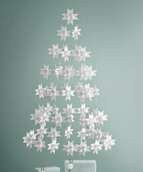 White painted stars XS - 2 pcs