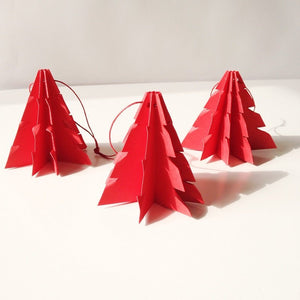 Christmas tree Red - 3 pcs