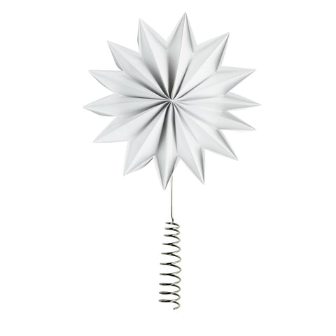 White X-Giant Pleat tree topper star