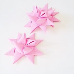 Pink half star with paste L - 3 pcs