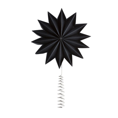 Black - Pleat tree topper star X-Giant