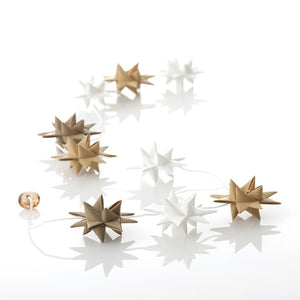 White & Sand - star garland no 15