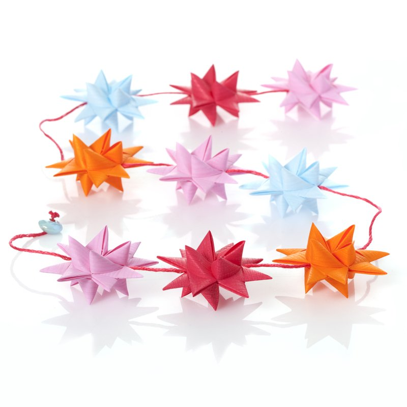 Pink & Lightblue star garland no 1