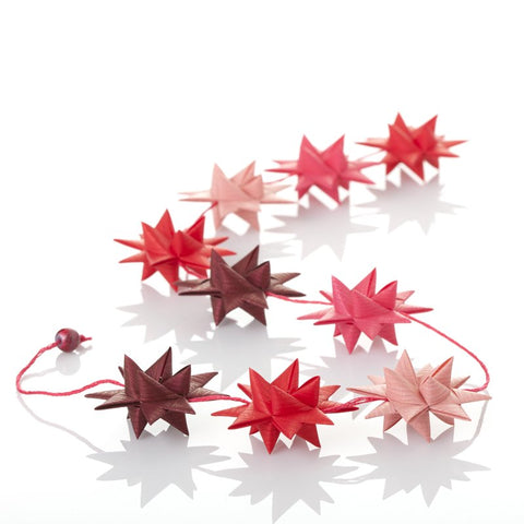 Red & Coral - star garland no 10