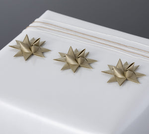 Gold half star with tape S - 12 pcs