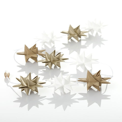 White & Gold - star garland no 29