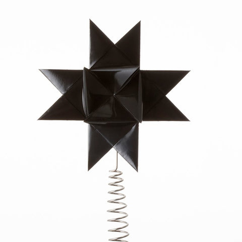 Black painted tree topper star L