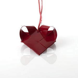 Dark Red Painted heart M