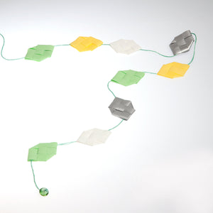Lemon & pistachio prism garland no 6