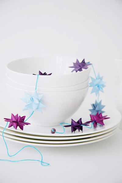 Purple & Lightblue - star garland no 9