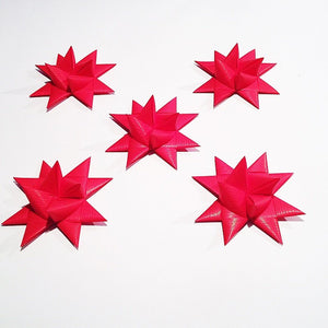 Red half star with tape M - 5 pcs