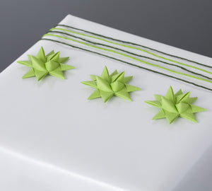 Lime half star with tape S - 12 pcs