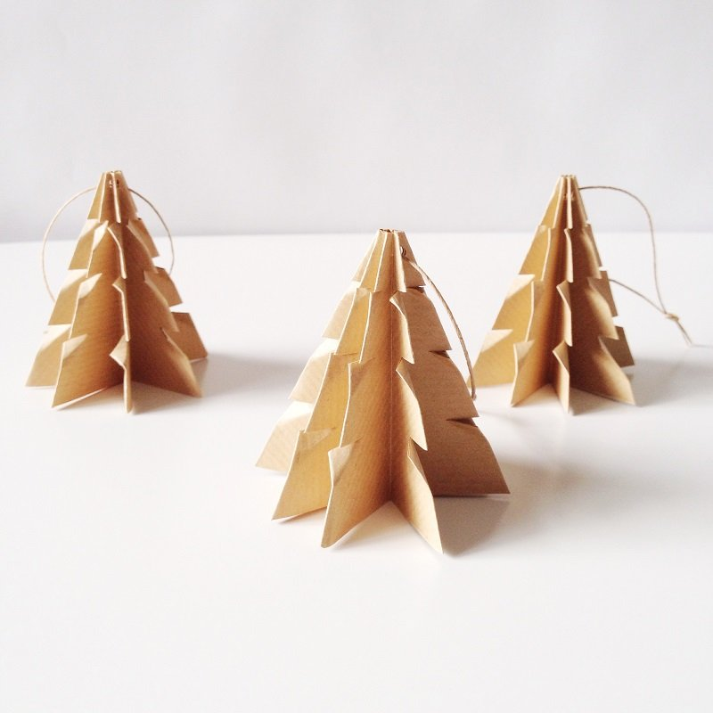 Christmas tree Brown paper - 3 pcs