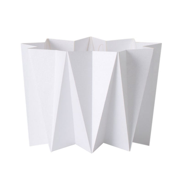 Origami cover vase - White S - 2 pcs