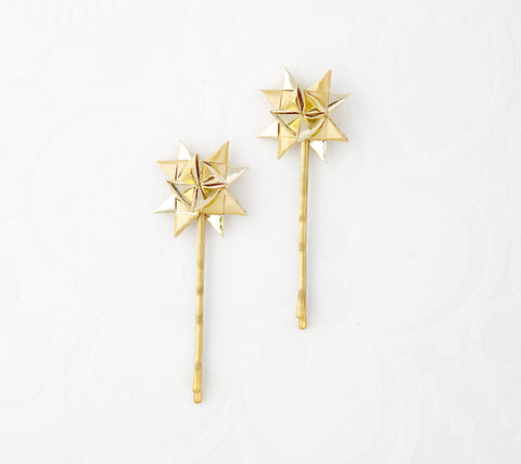 Gold hairpins a set of two