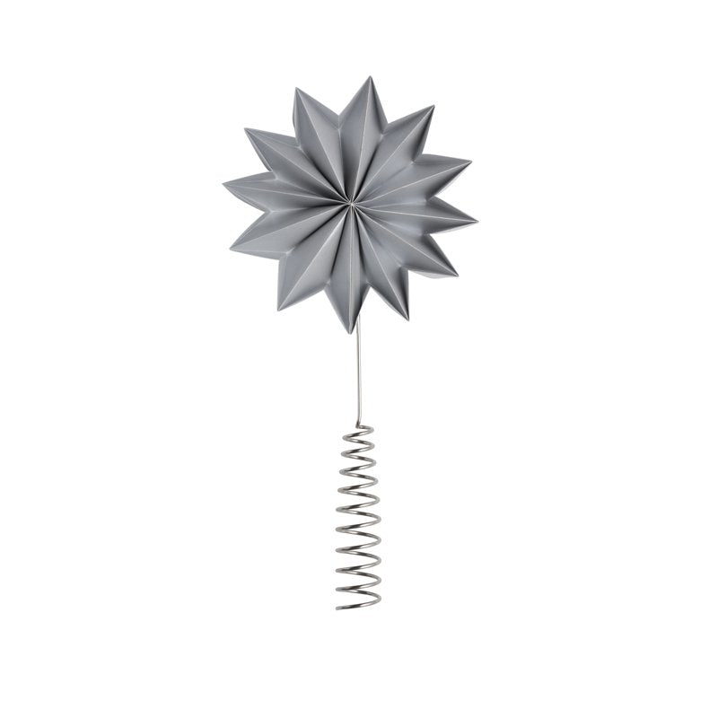 Gray pleat tree topper Giant
