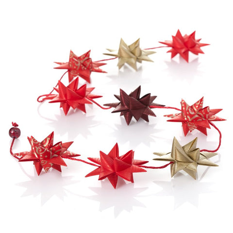 Red & Gold - star garland no 12