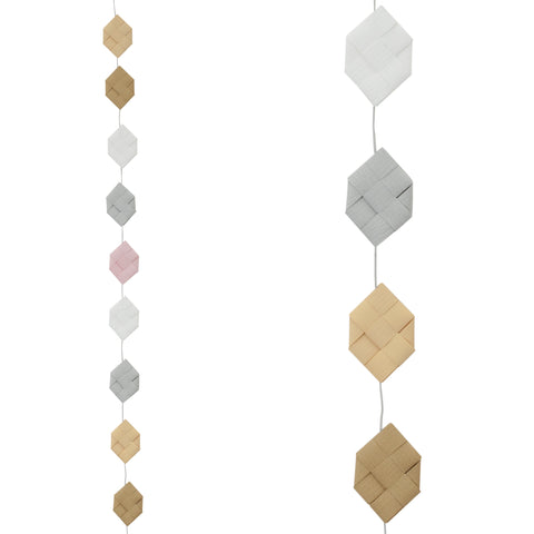 Cream & Sand prism garland no 17