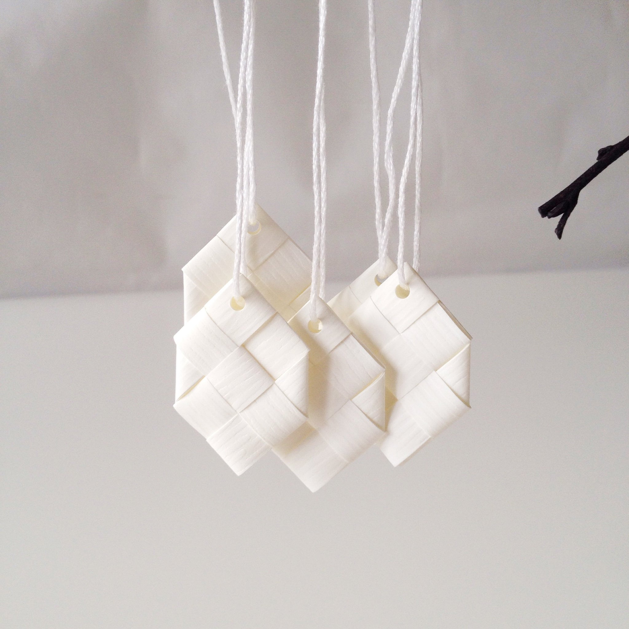 White prisms S - 5 pcs