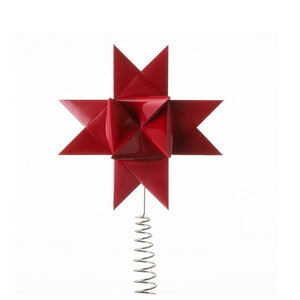 Dark red painted tree topper M