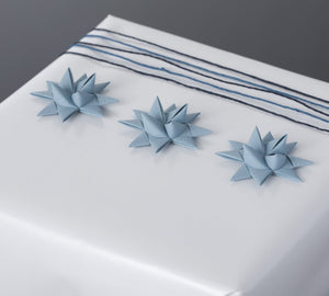 Gray Blue half star with tape S - 12 pcs