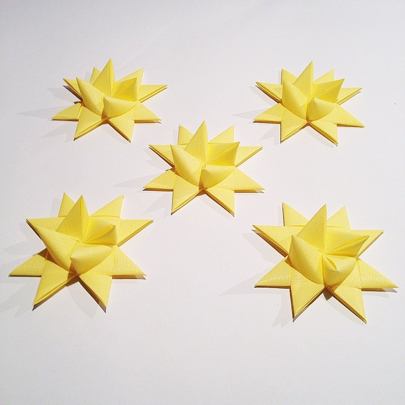 Soft yellow half star with tape M - 5 pcs