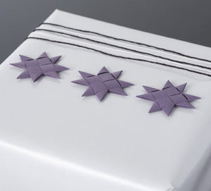 Fig flat star with tape S - 12 pcs