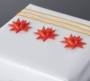 Mandarin half star with tape S - 12 pcs