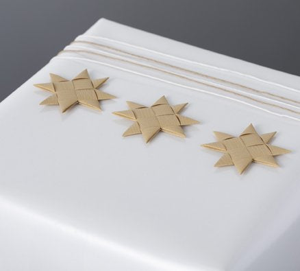 Sand flat star with tape S - 12 pcs