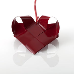 Dark Red Painted Heart L