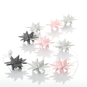 Pastel Rose & Gray - star garland no 28