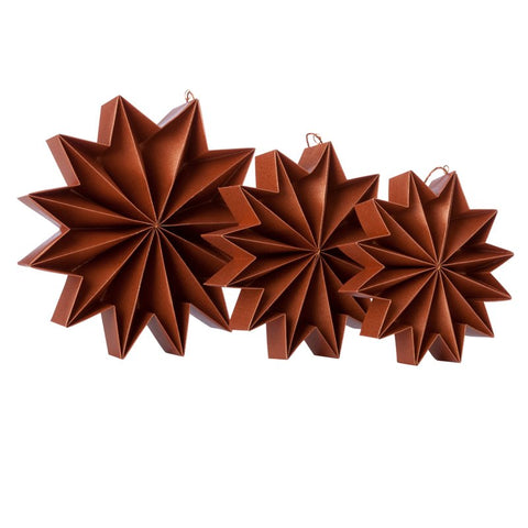 Pleat stars - Copper