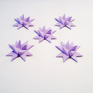 Light Purple half star with tape M - 5 pcs