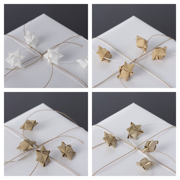Mini cube stars for table or gift decoration 20 pcs - 6 white colors