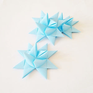 Light Blue half star with tape L - 3 pcs