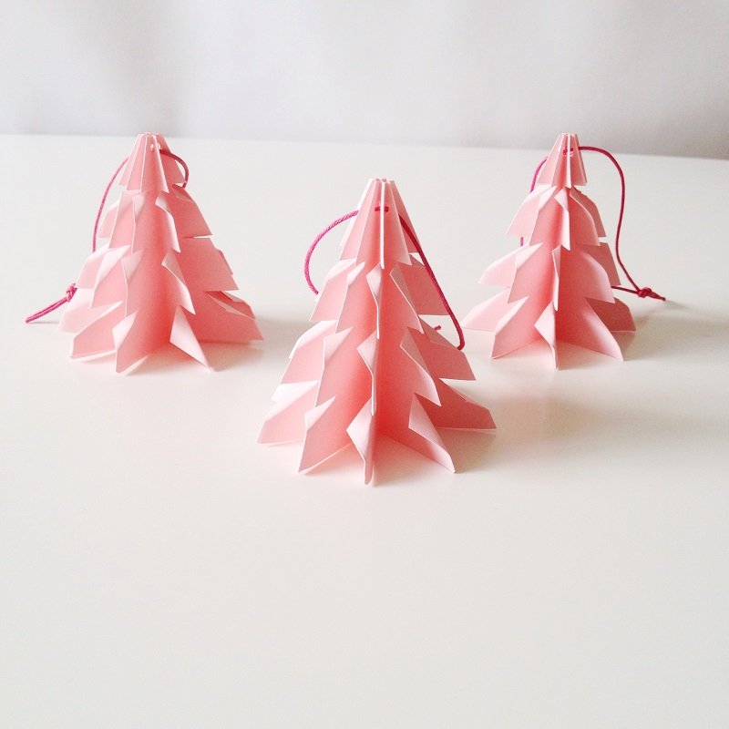 Christmas tree Pink - 3 pcs