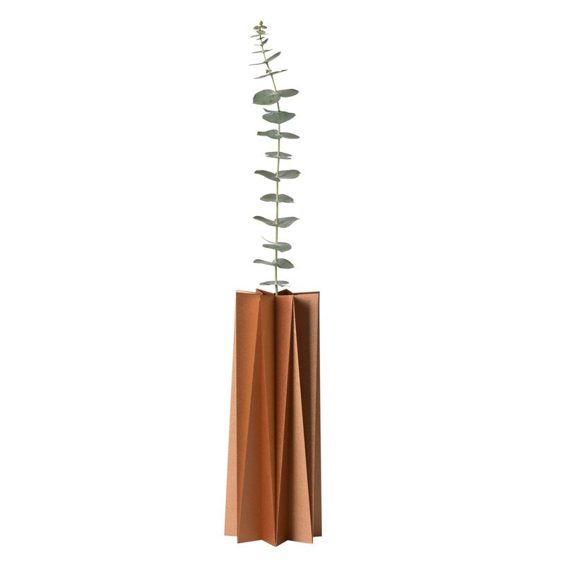 Origami cover vase - Copper L