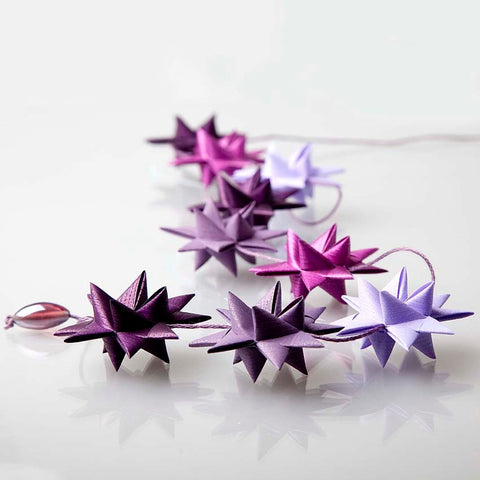 Pure Purple - star garland no 8