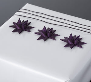 Plum half star with tape S - 12 pcs