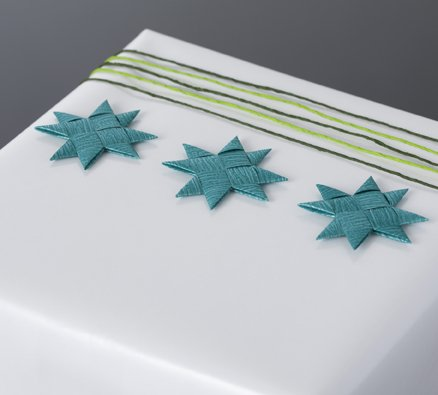 Jade flat star with tape S - 12 pcs