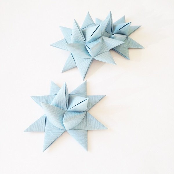 Gray Blue half star with tape L - 3 pcs