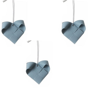 Gray Blue heart M - 3 pcs