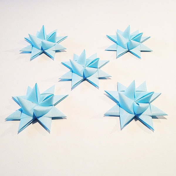 Light Blue half star with tape M - 5 pcs