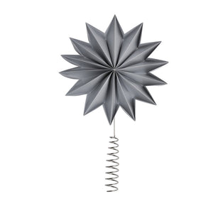 Gray Pleat tree topper star X-Giant